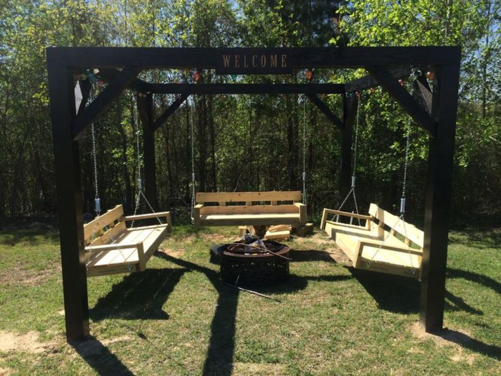 Image of: Ana White Porch Swing Hanging