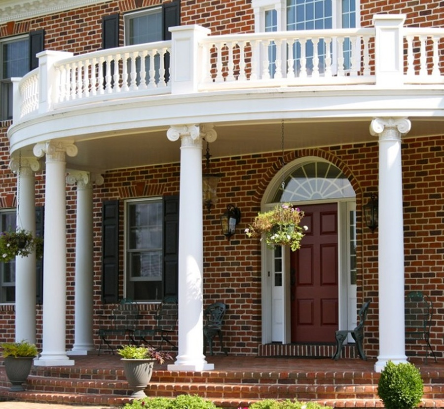 Image of: Architectural Fiberglass Porch Columns