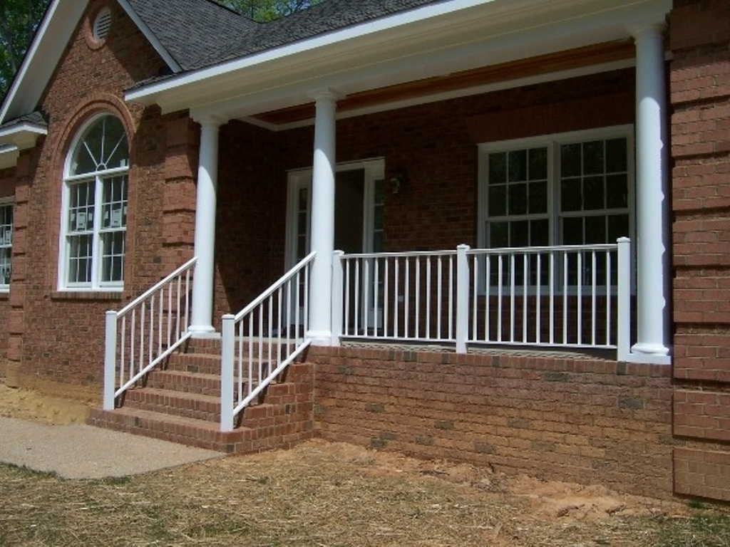 Image of: Awasome Front Porch Railings