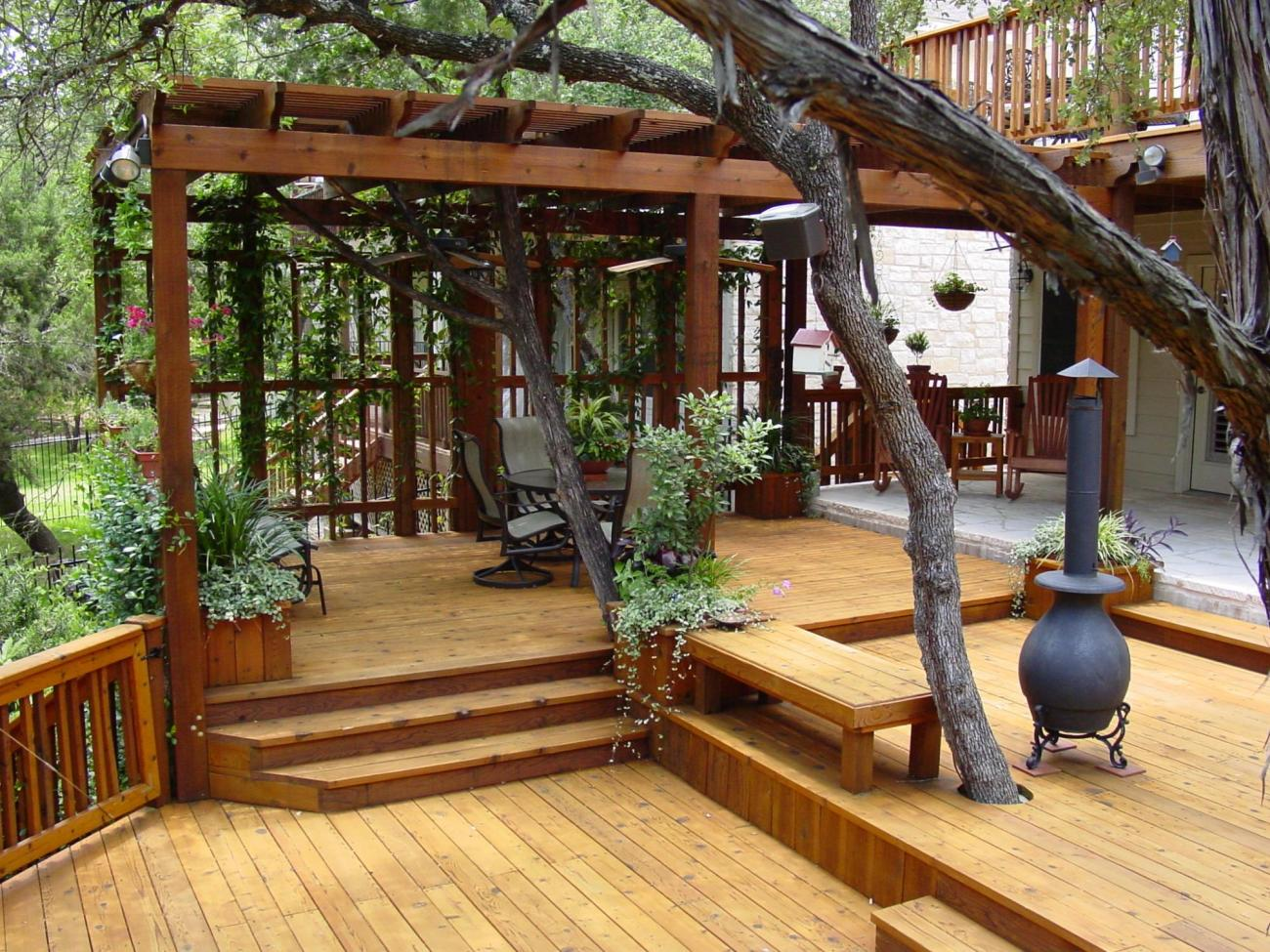 Image of: Awesome Backyard Porch Ideas