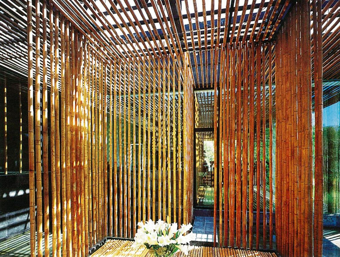 Image of: Awesome Bamboo Porch Shades