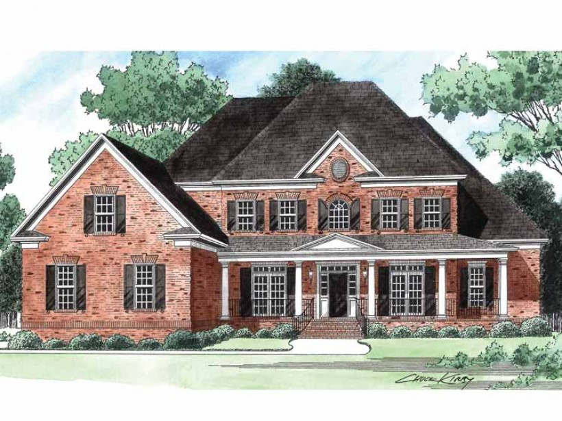 Image of: One Story House Plans With Wrap Around Porch