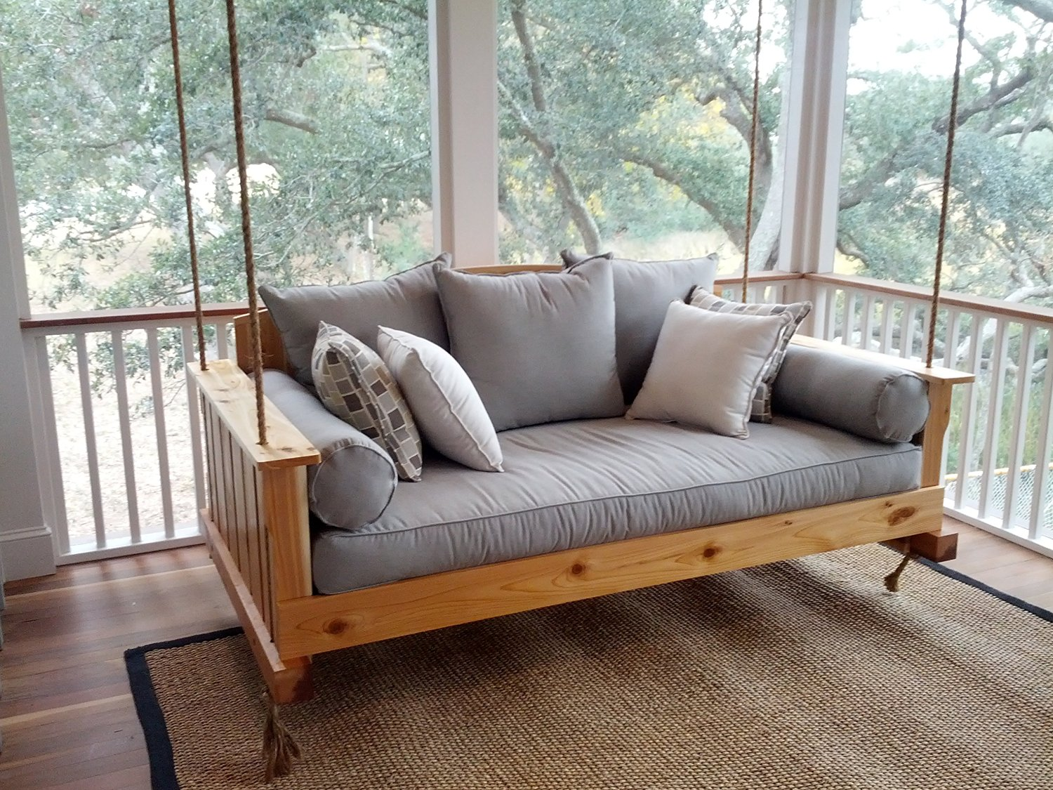 Image of: Awesome Modern Porch Swing