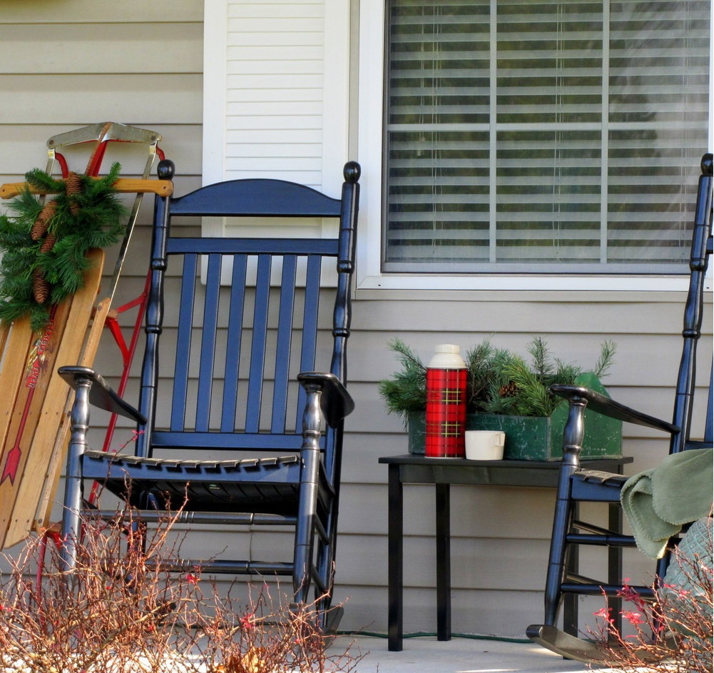 Image of: Back Porch Ideas Cristmas Trend