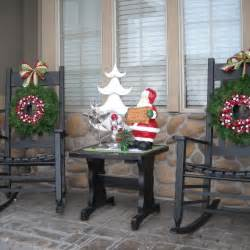 Image of: Back Porch Ideas Christmas