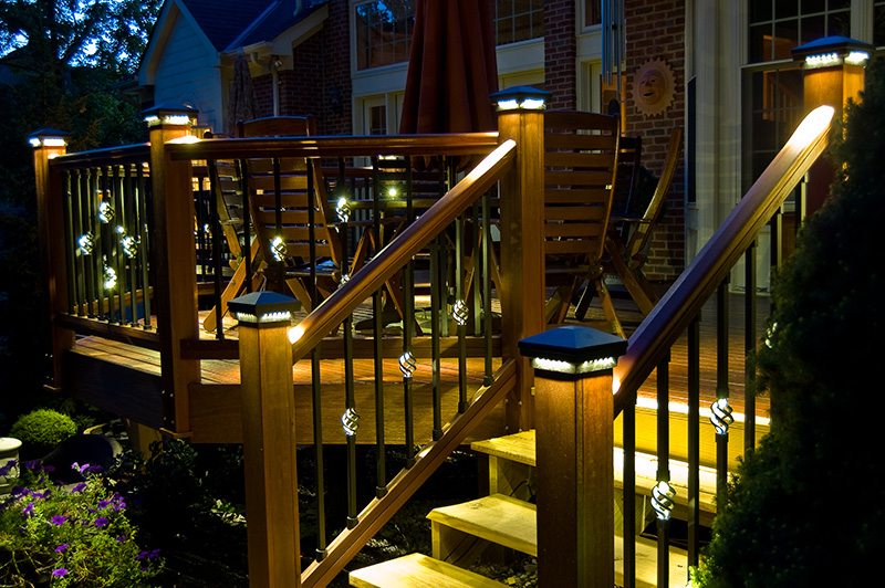 Image of: Back Porch Lights Colors