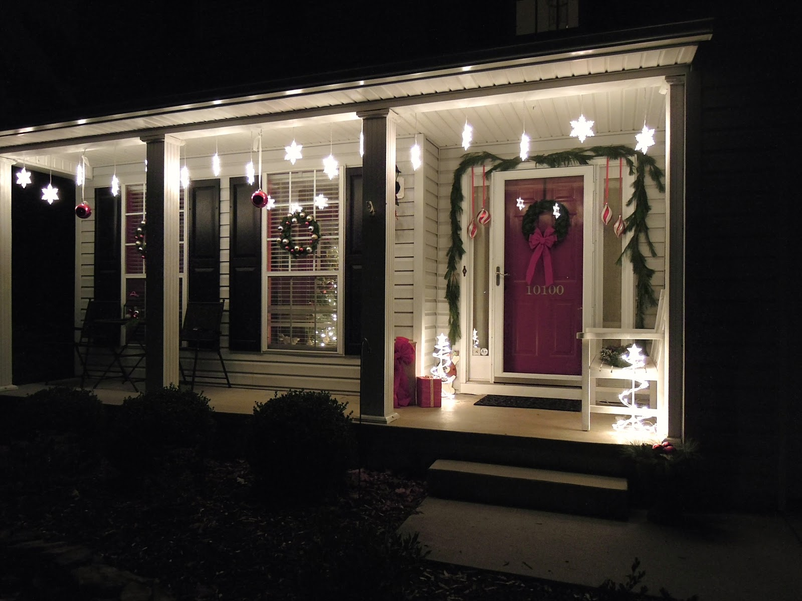 Image of: Back Porch Lights In White