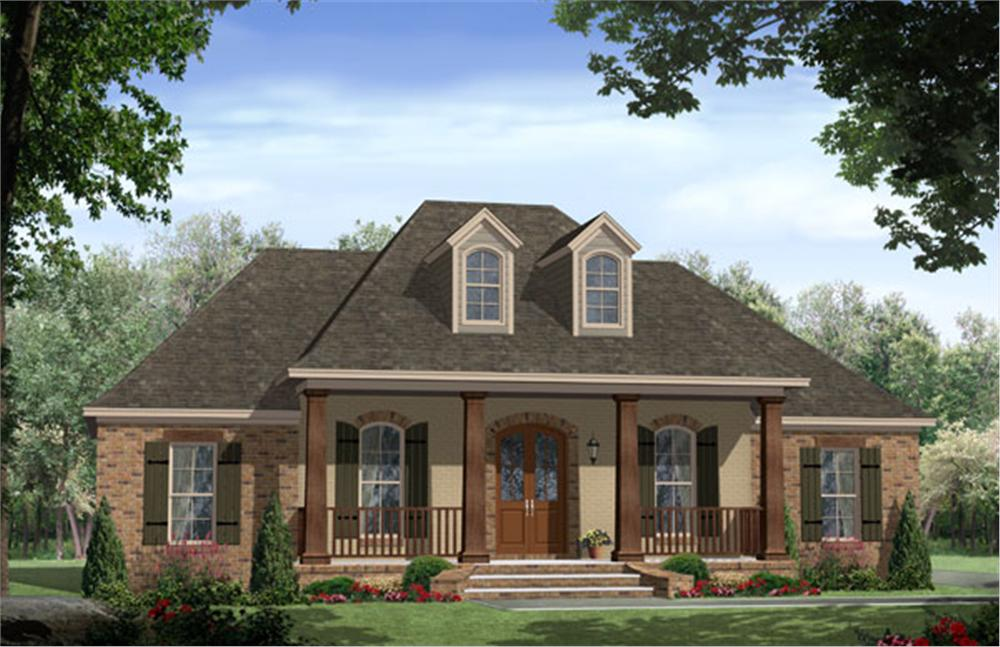 Image of: Beautiful Country House Plans With Porch