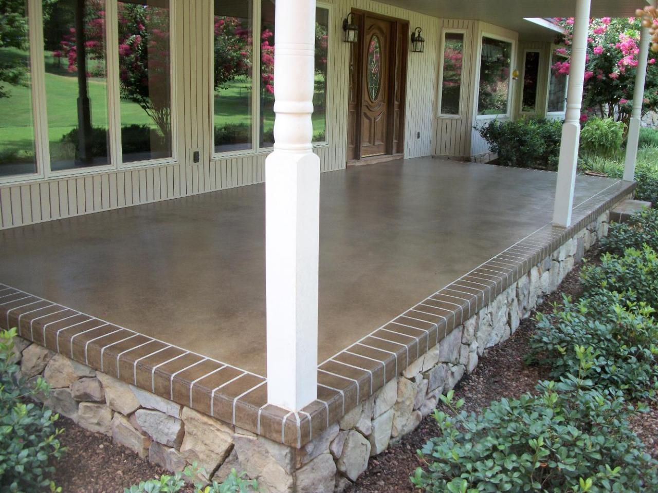 Image of: Best Concrete Front Porch