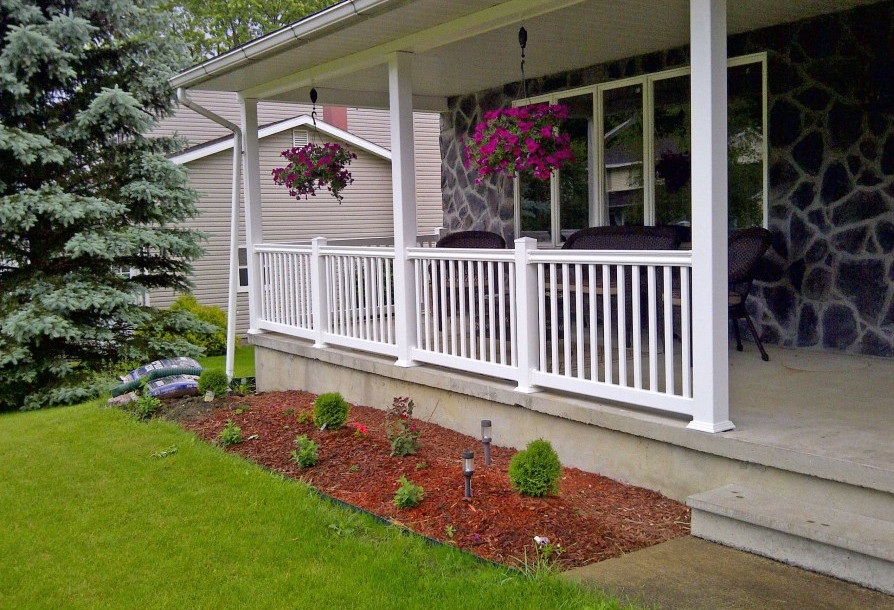 Image of: Best DIY Porch Railing