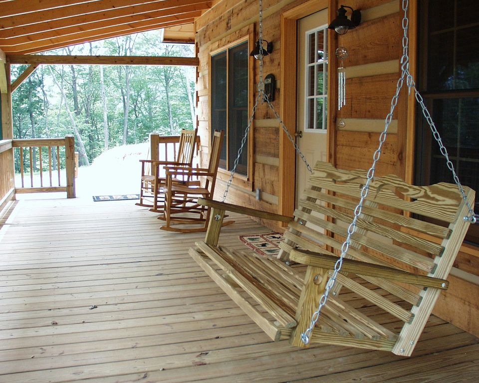 Image of: Best Log Porch Swing