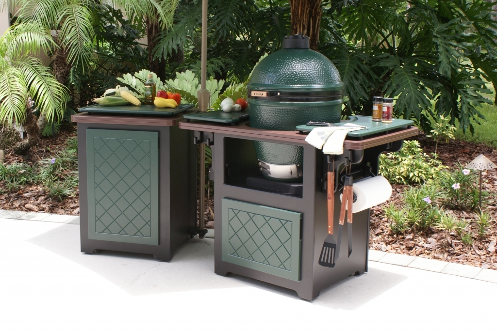 Image of: Best Outdoor Kitchen With Built In Big Green Egg
