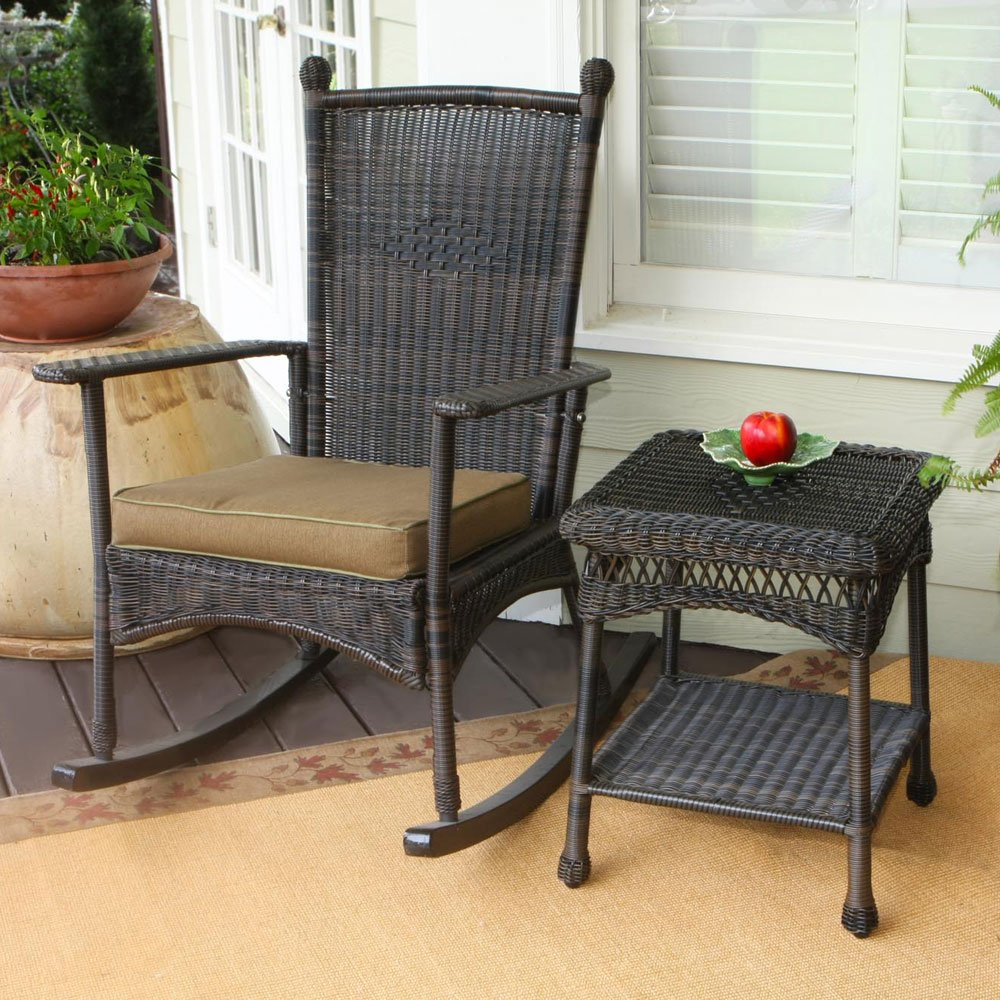 Image of: Black Front Porch Benches