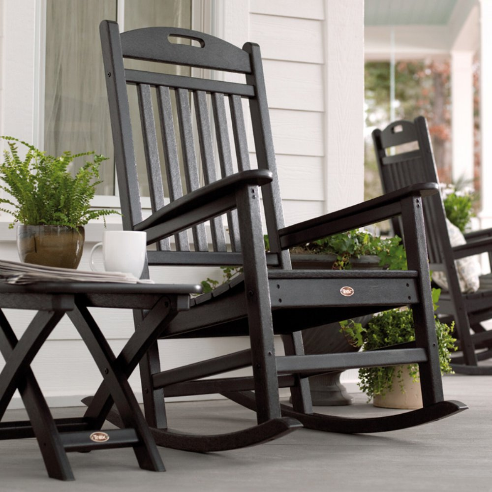 Image of: Black Front Porch Rocking Chairs