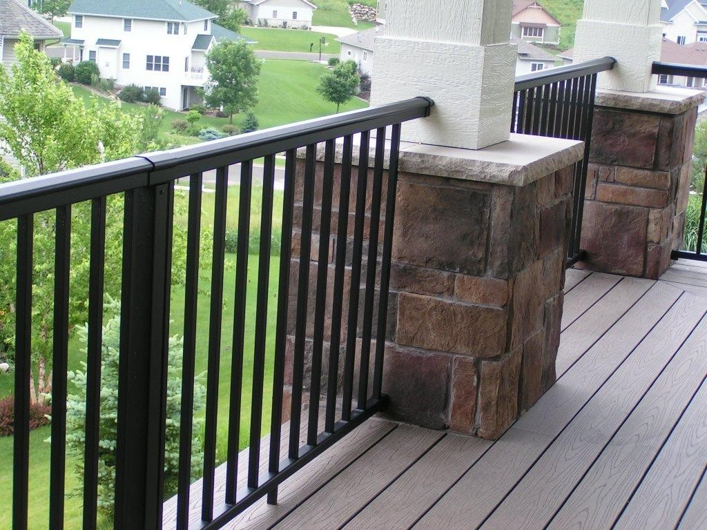 Image of: Black Porch Railing Deck