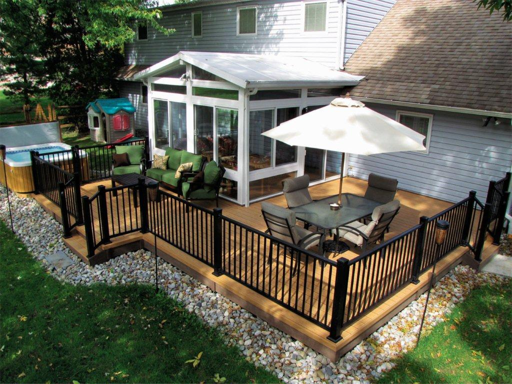 Image of: Black Porch Railing Gallery