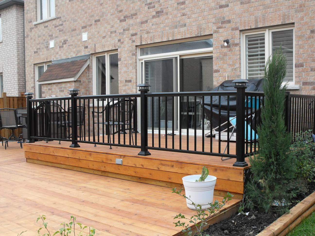 Image of: Black Porch Railing Metal