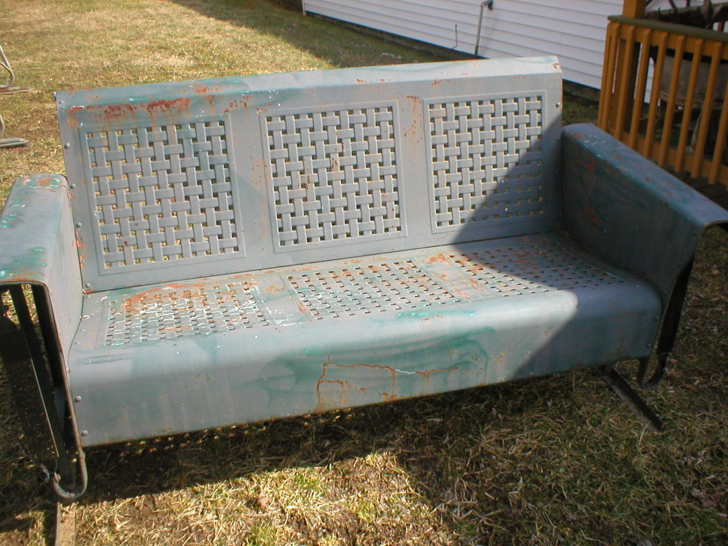 Image of: Bouny Metal Porch Glider