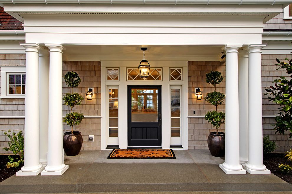 Image of: Boxwood Front Porch Topiary
