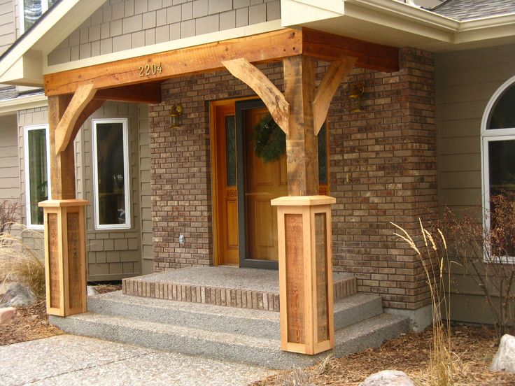 Image of: Brick Front Porch Pillars