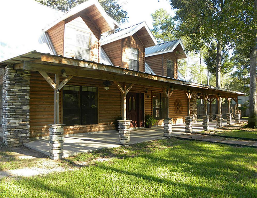 Image of: Build Log Cabin With Wrap Around Porch
