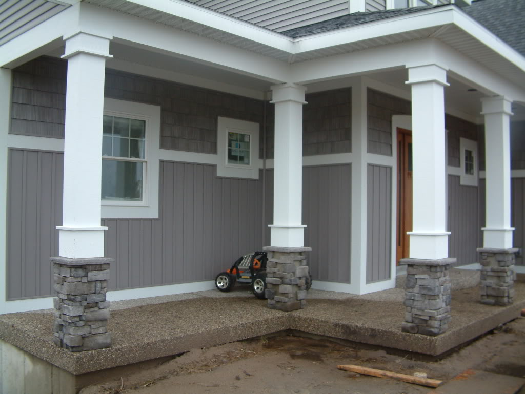 Image of: Build Round Porch Columns