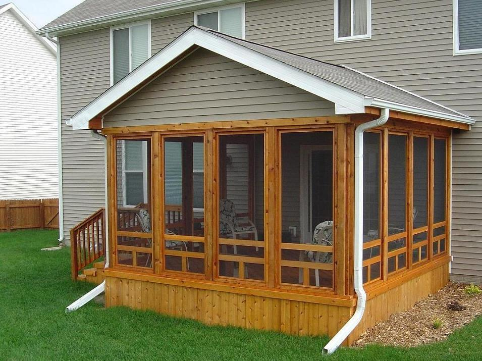 Image of: Cedar Diy Screen Porch