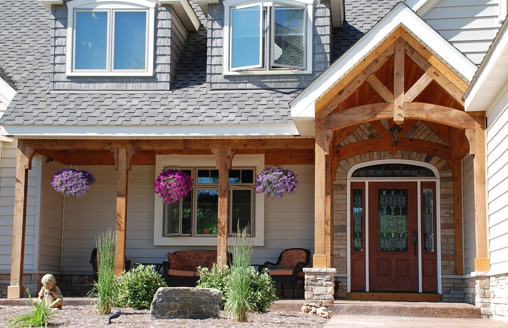 Image of: Cedar Porch Posts Awesome