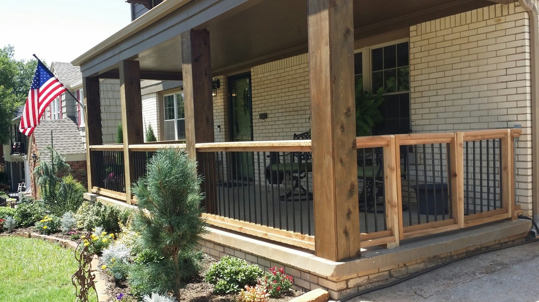 Image of: Cedar Porch Posts Large