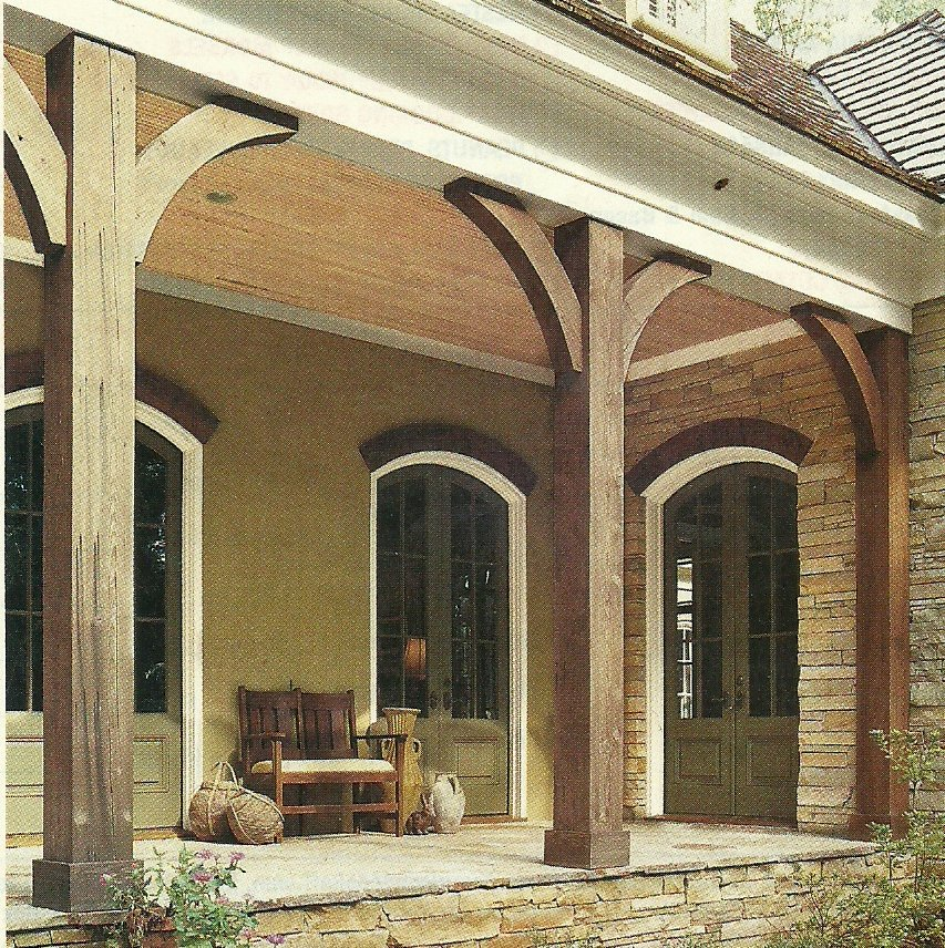 Image of: Cedar Porch Posts Popular