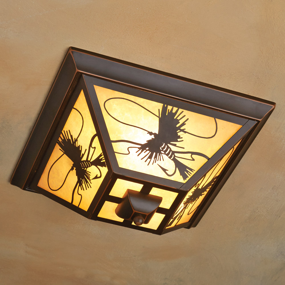 Image of: Ceiling Flush Mount Porch Light