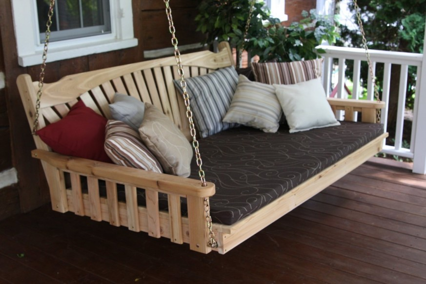 Image of: Comfy Diy Porch Swing Bed