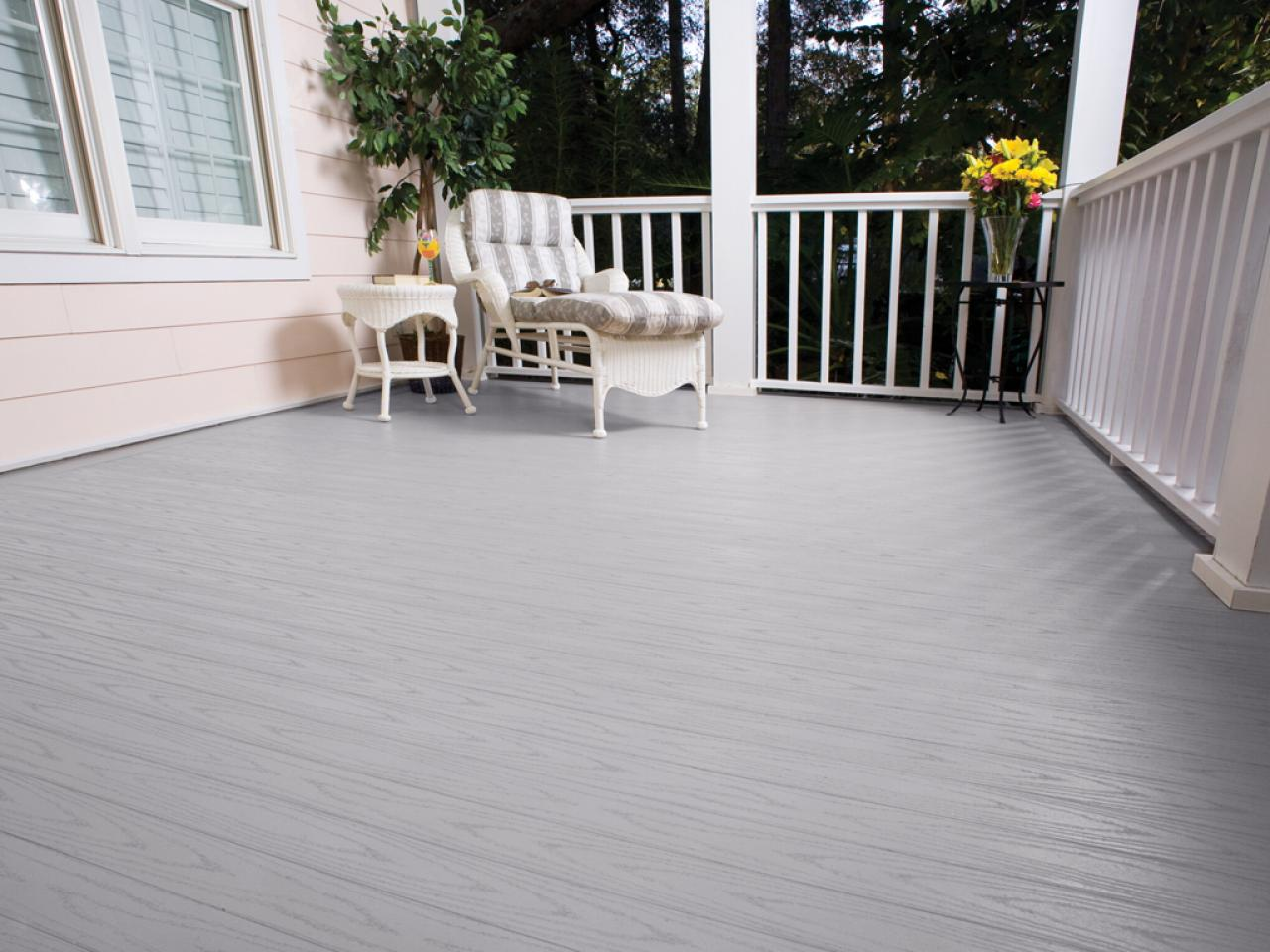 Image of: Composite Porch Flooring Colors