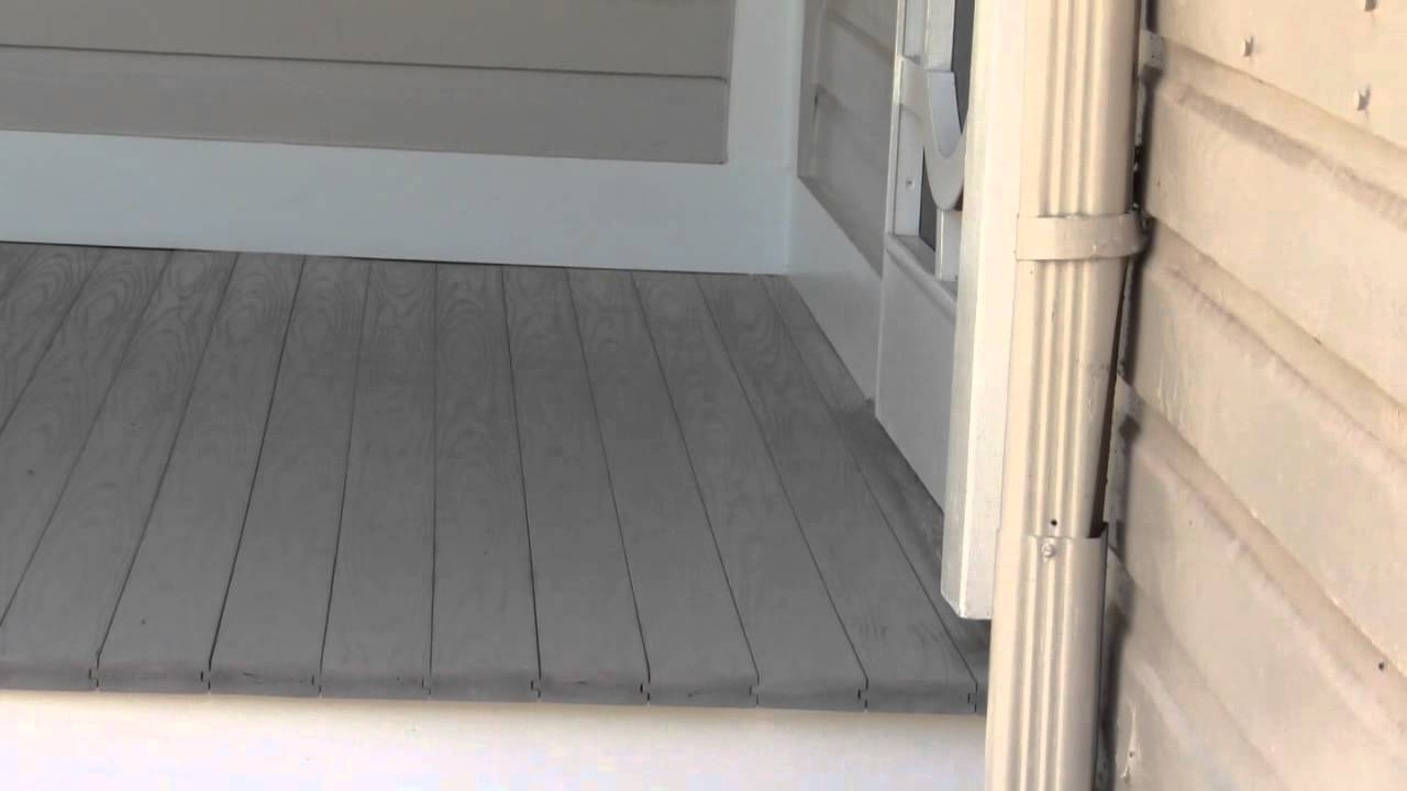 Image of: Composite Porch Flooring Gray