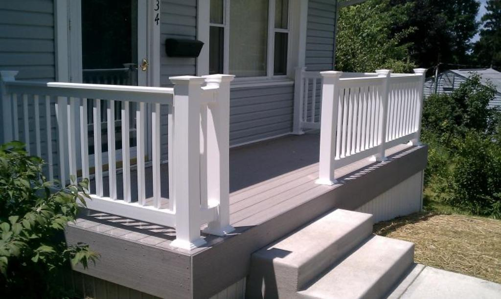 Image of: Composite Porch Flooring Stairs