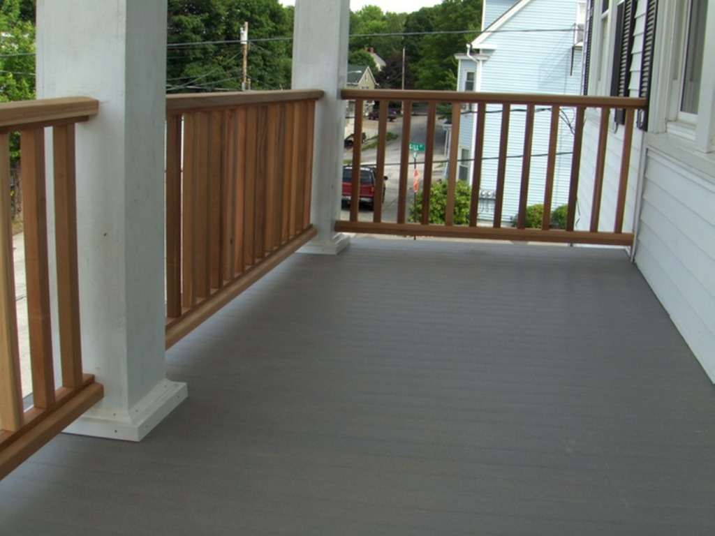 Image of: Composite Porch Flooring