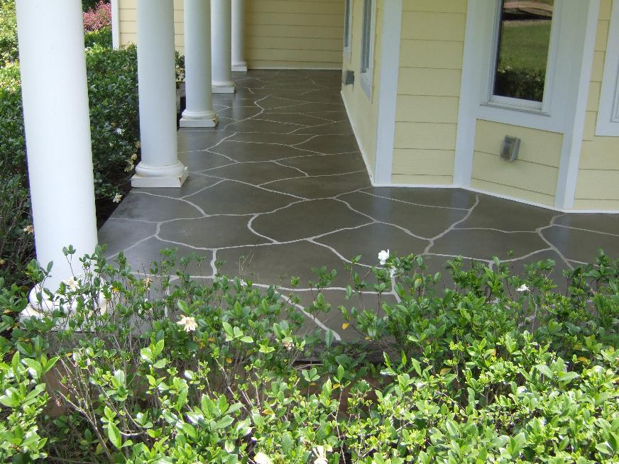 Image of: Concrete Front Porch Home