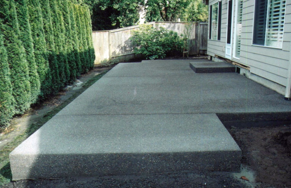 Image of: Concrete Front Porch Outdoor