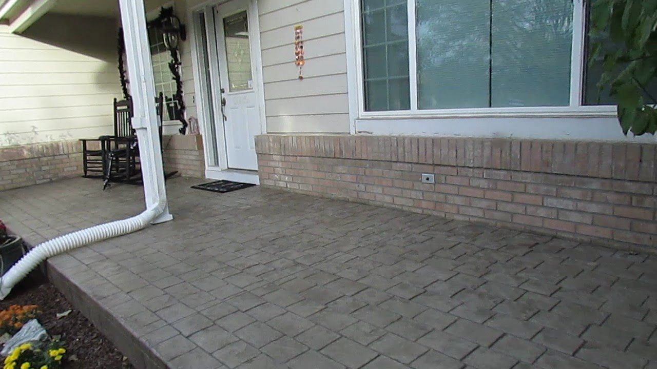 Image of: Concrete Front Porch Overlay