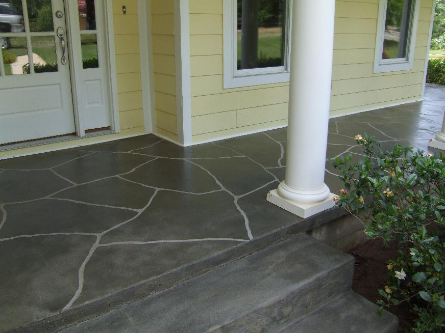 Image of: Concrete Front Porch Pattern