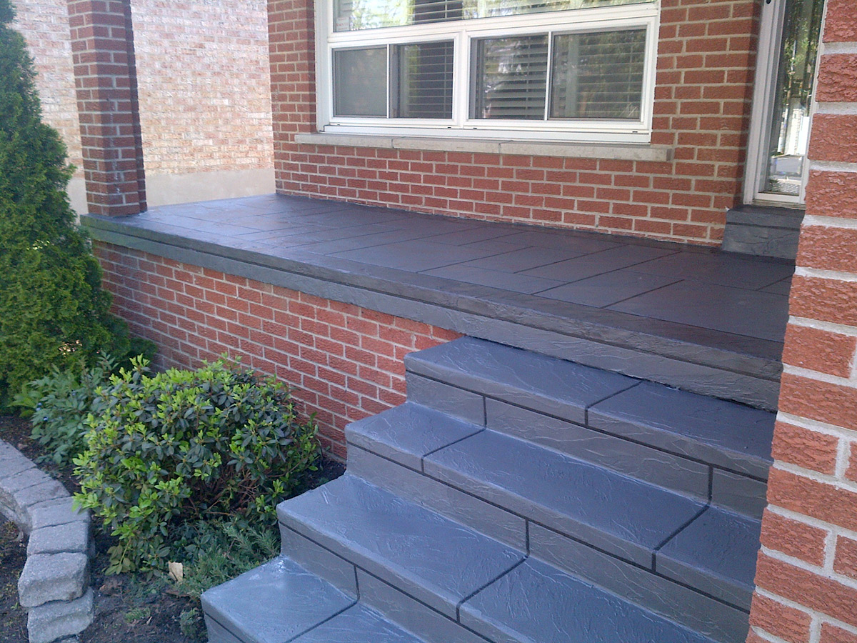 Image of: Concrete Front Porch Steps