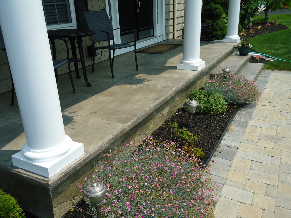 Image of: Concrete Front Porch Type