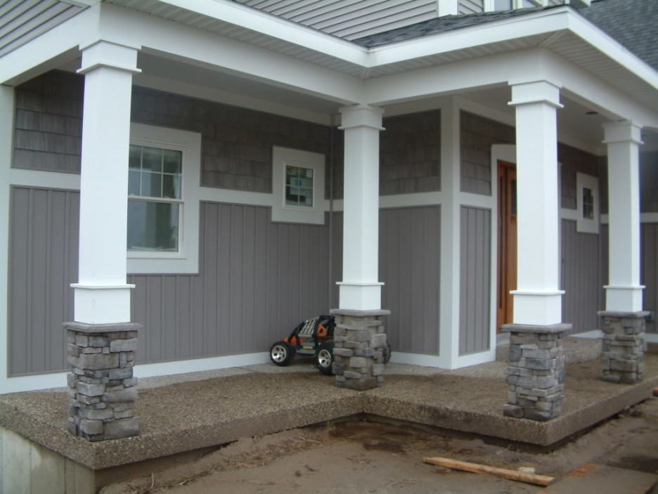 Image of: Concrete Front Porch