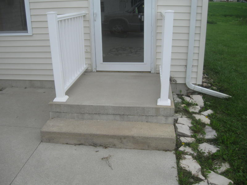 Image of: Concrete Porches Small