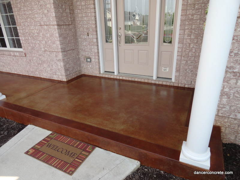 Image of: Concrete Porches Stained