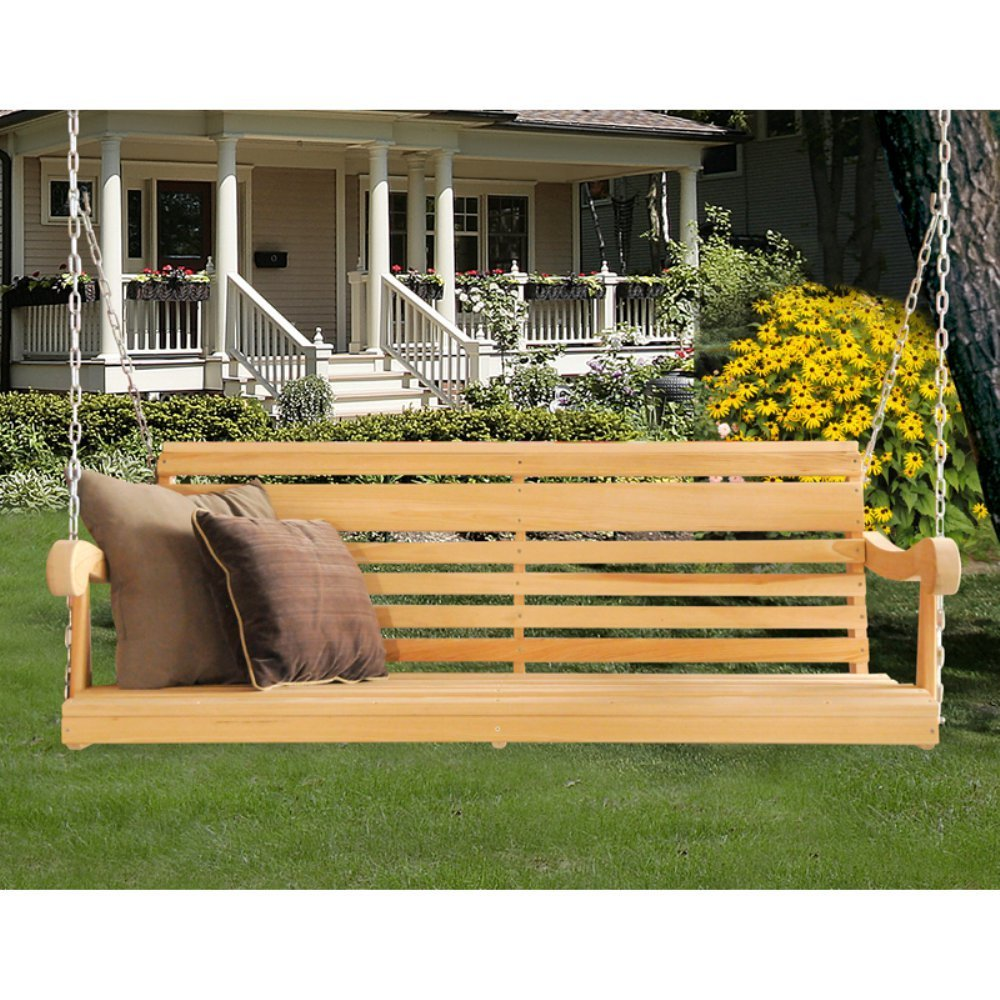 Image of: Cool Cedar Porch Swing