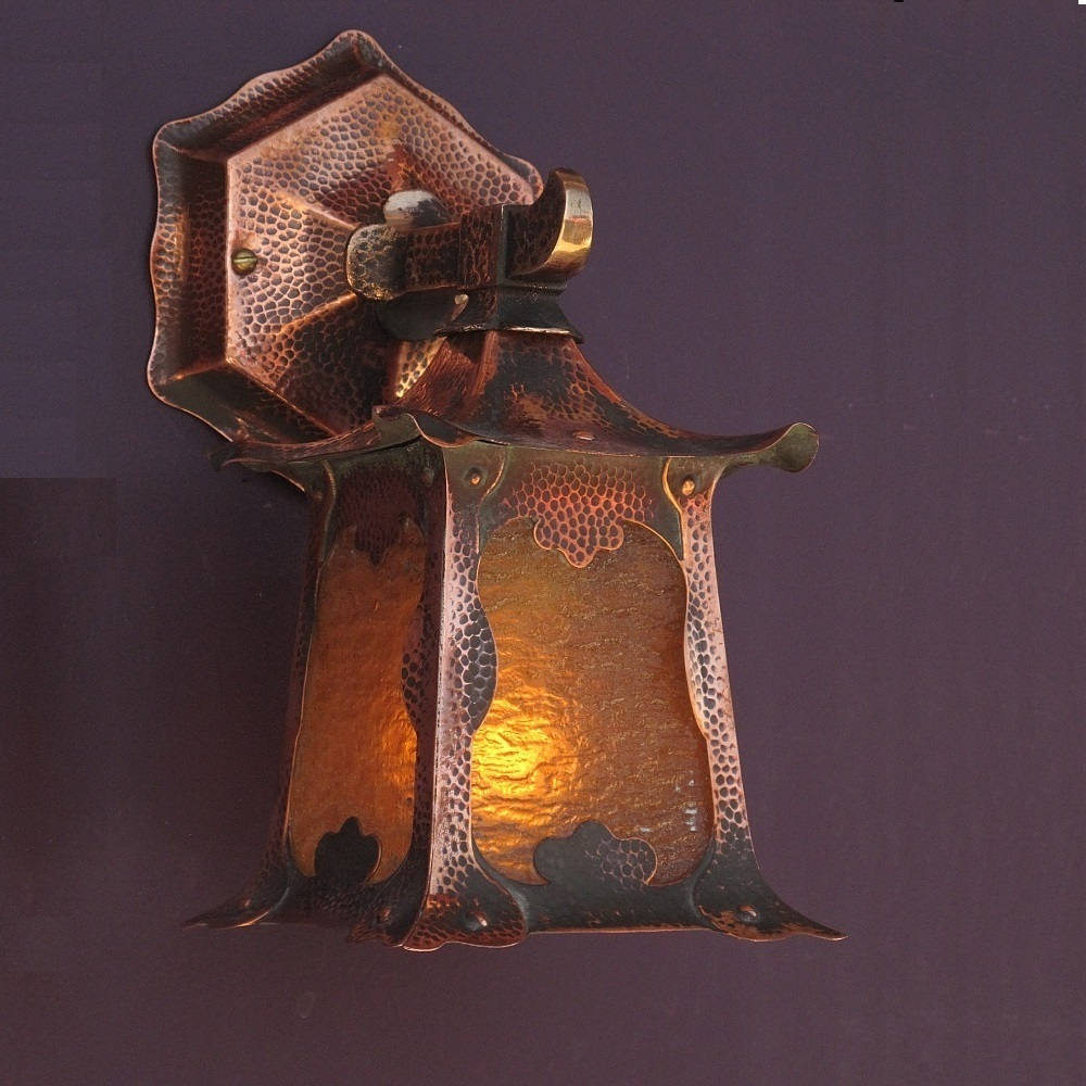 Image of: Copper Porch Light Style