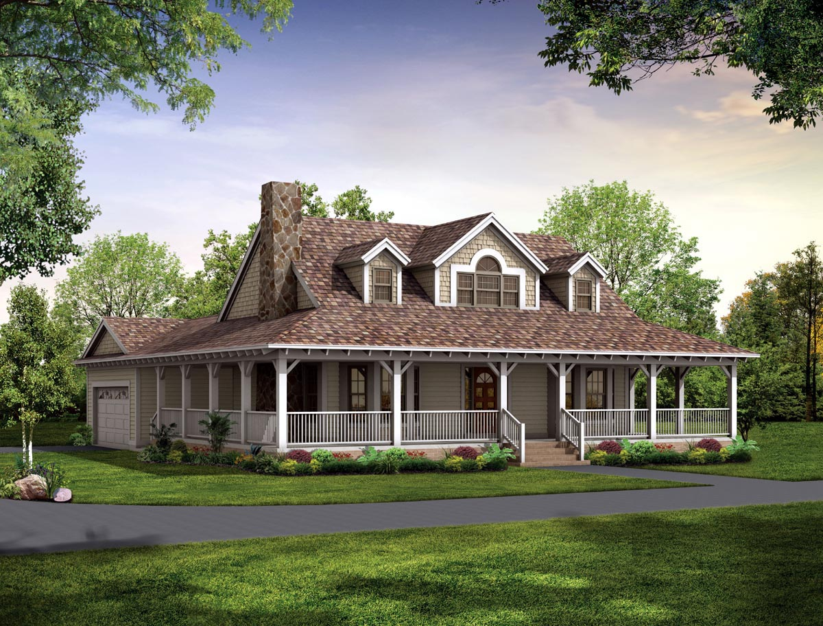 Image of: Country House Plans With Porch Ideas