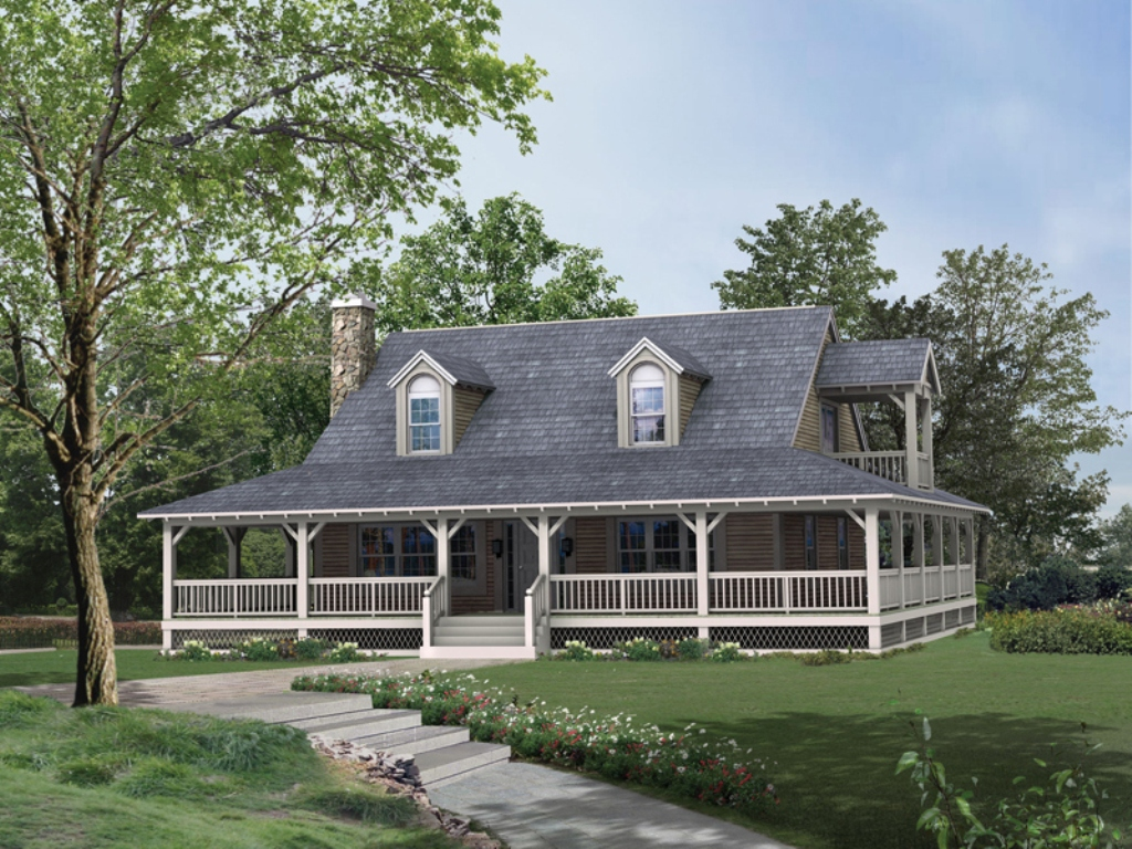 Image of: Country House Plans With Porch Style