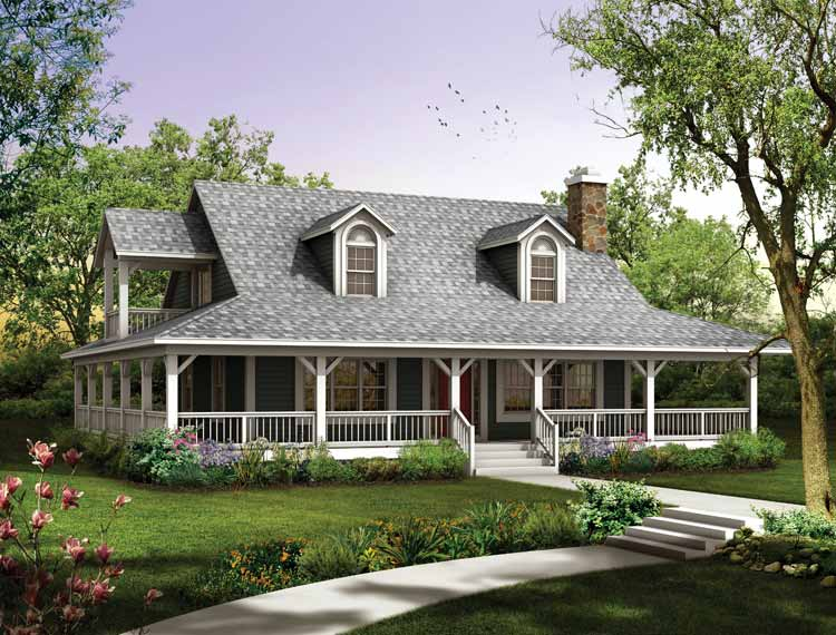 Image of: Country House Plans With Wrap Around Porch Style